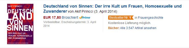 Deutschland von Sinnen auf Platz 1 bei Amazon