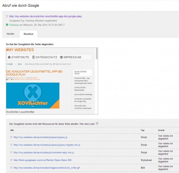 Google Render My-websites.de