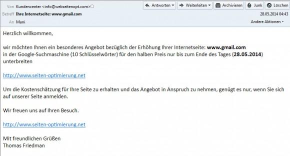 gmail.com wechselt Besitzer